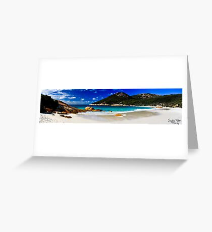 Little Beach Panorama Greeting Card