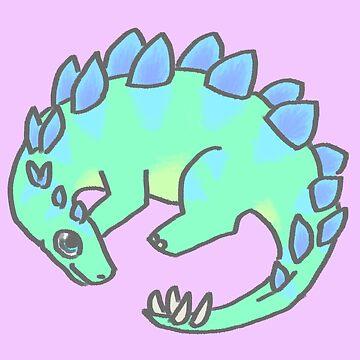 Lil Stegosaurus by SpectacledPeach