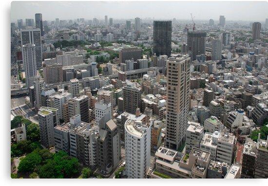 Aerial View of Tokyo  by jojobob
