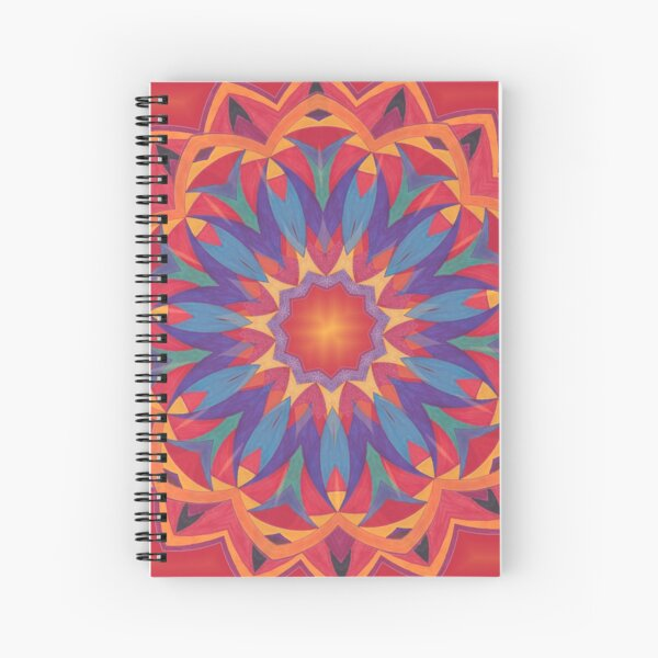 Melons Sliced Fruit and Juice Fall Into Winter Design by Green Bee Mee Spiral Notebook