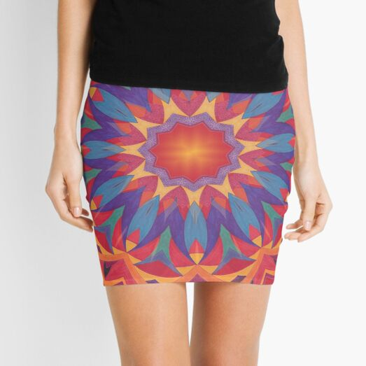 Melons Sliced Fruit and Juice Fall Into Winter Design by Green Bee Mee Mini Skirt