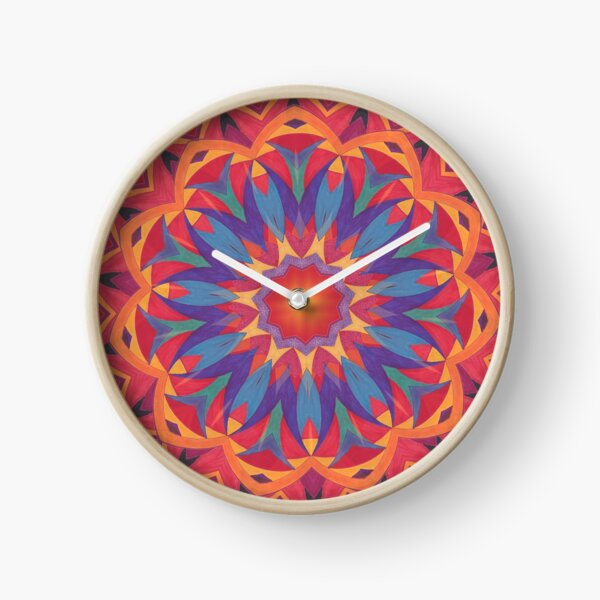Melons Sliced Fruit and Juice Fall Into Winter Design by Green Bee Mee Clock