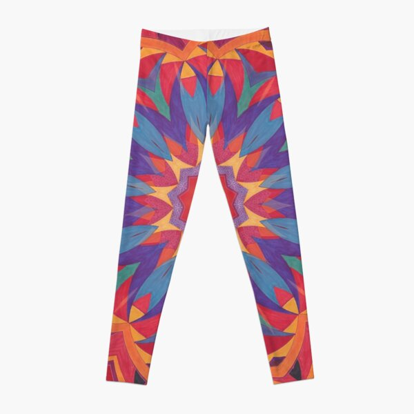 Melons Sliced Fruit and Juice Fall Into Winter Design by Green Bee Mee Leggings