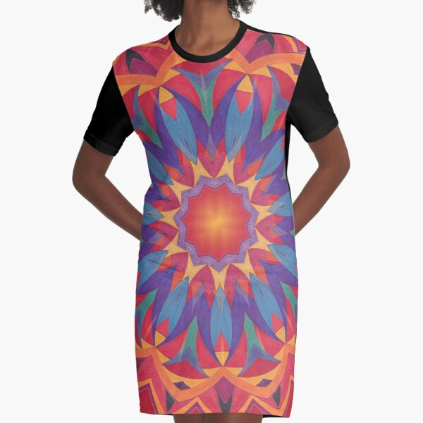 Melons Sliced Fruit and Juice Fall Into Winter Design by Green Bee Mee Graphic T-Shirt Dress