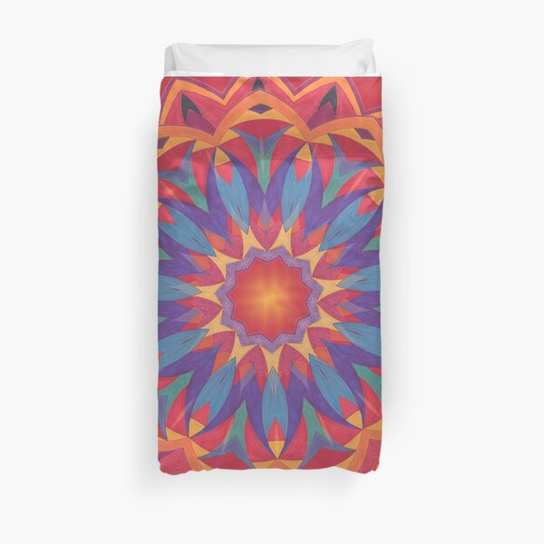 Melons Sliced Fruit and Juice Fall Into Winter Design by Green Bee Mee Duvet Cover