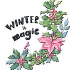 Womens christmas florals  by Epic Splash Creations