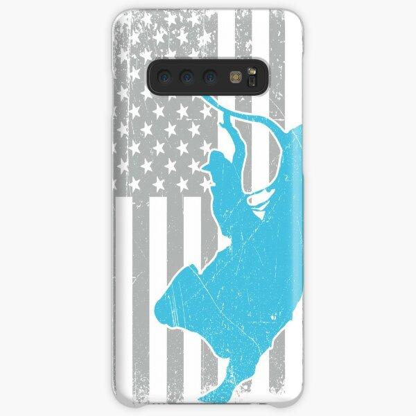 Bull Riding Distressed US American Flag - Rodeo Bullrider Lover  Samsung Galaxy Snap Case