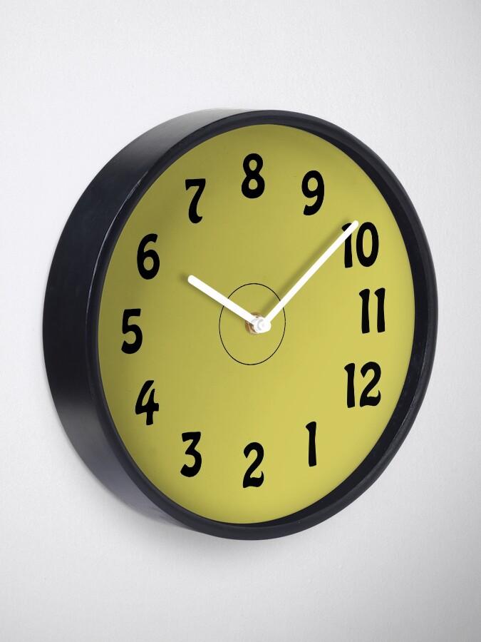 Alternative Ansicht von Eine Uhr. Die 8 ist oben? Wie krank ist das denn? Uhr