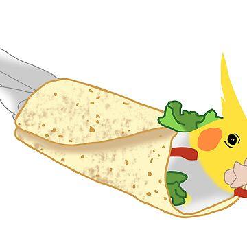 birbito - burrito cockatiel doodle by FandomizedRose