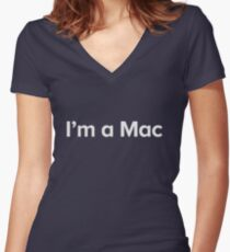 I'm a Mac Women's Fitted V-Neck T-Shirt