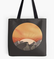 Sunset over mountains Tote Bag