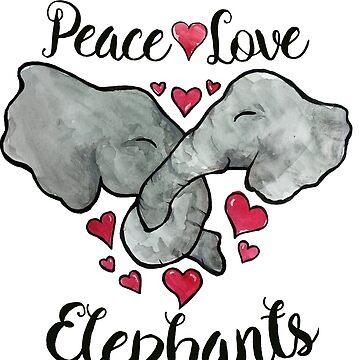 Peace love & Elephants  by Boogiemonst
