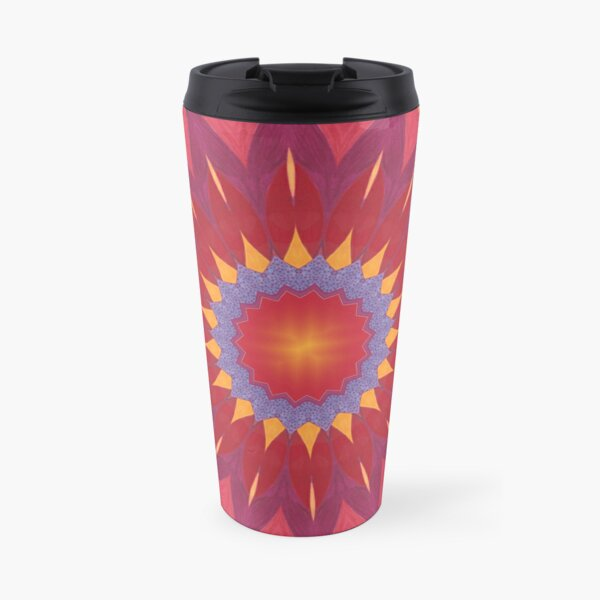 Melon and Fruit Juice Mix Fall Into Winter Design of Green Bee Mee Travel Mug