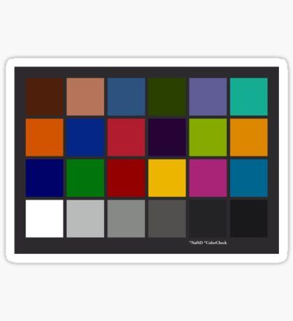 Color Checker Chart Sticker