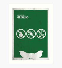 Gremlins Minimal movie Poster Art Print