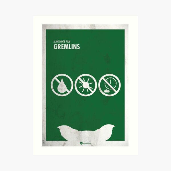 Gremlins minimal movie poster Lámina artística