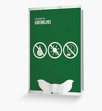 Gremlins Minimal movie Poster Greeting Card