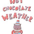 Winter cartoon funny christmas cartoon hot chocolate cat kitten by Epic Splash Creations