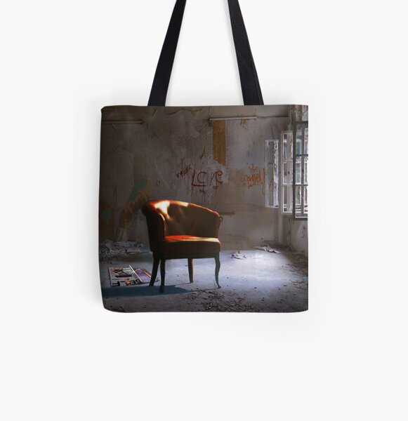 Red Chair in a Waiting Room All Over Print Tote Bag