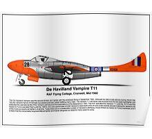 De Havilland Vampire T11 Poster