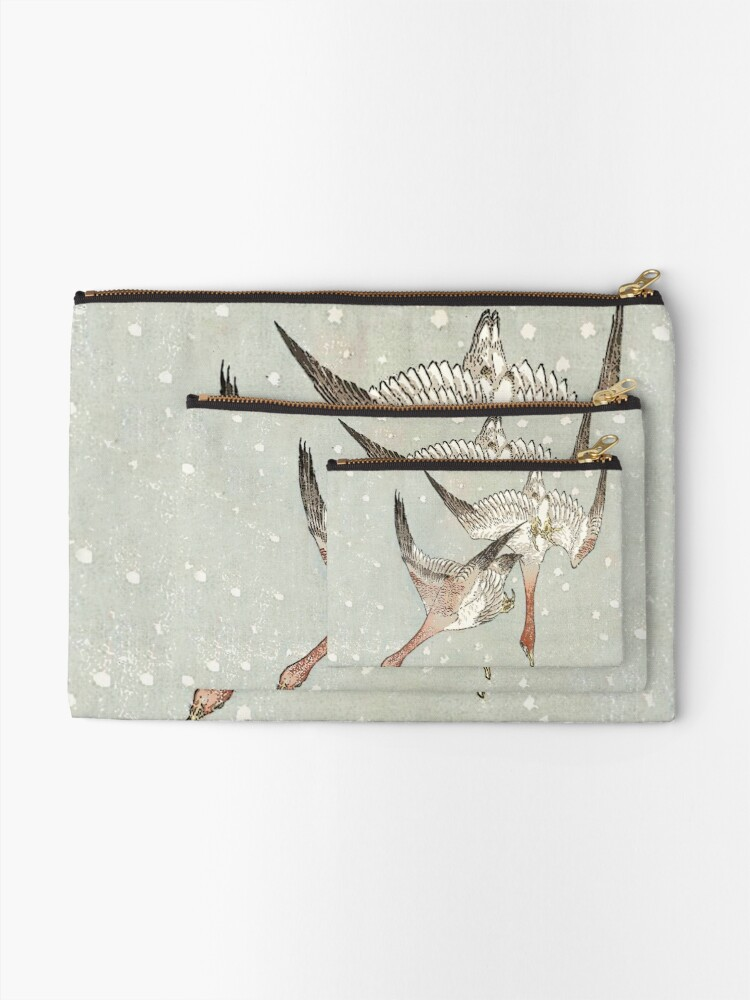 Alternate view of Snow Geese Zipper Pouch