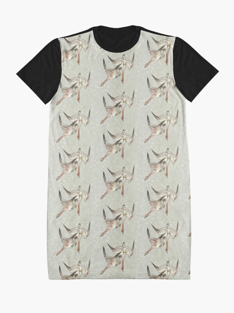 Alternate view of Snow Geese Graphic T-Shirt Dress