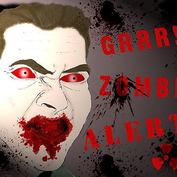 Zombie Alert by stitchgrin