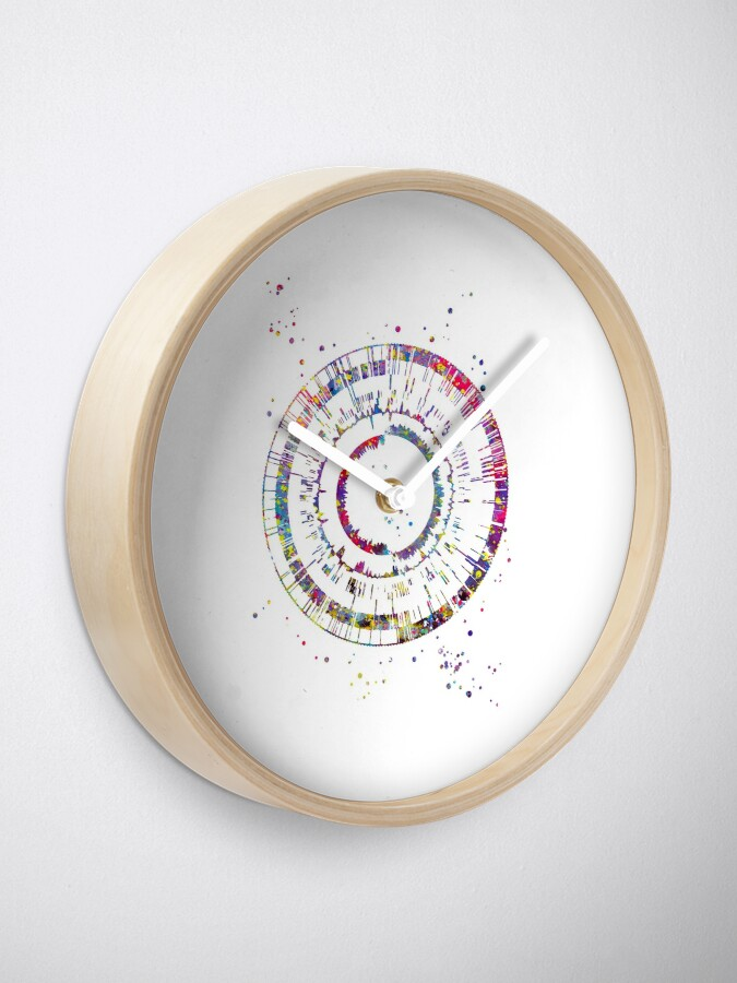 Alternate view of Genomics, science, science art, DNA, DNA print, watercolor DNA Clock