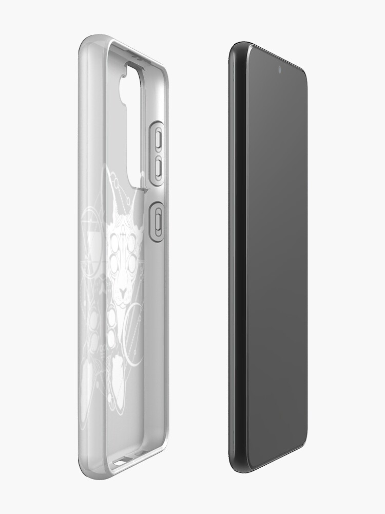 Alternate view of Sphynx cats with ankh and Leviathan cross symbols Samsung Galaxy Phone Case