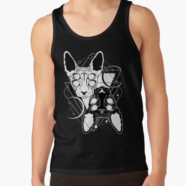 Sphynx cats with ankh and Leviathan cross symbols Tank Top