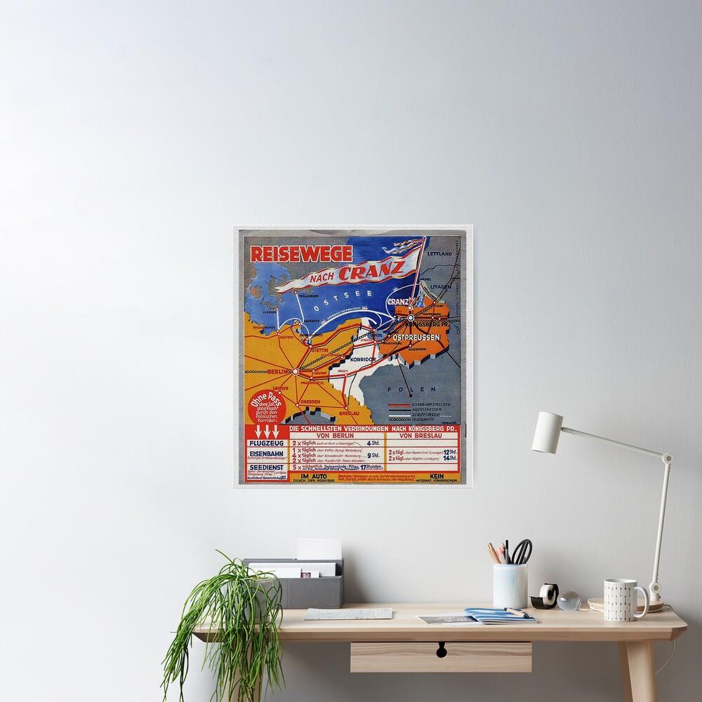Ostpreussen...Reisewege Nach Cranz an die Ostsee Poster