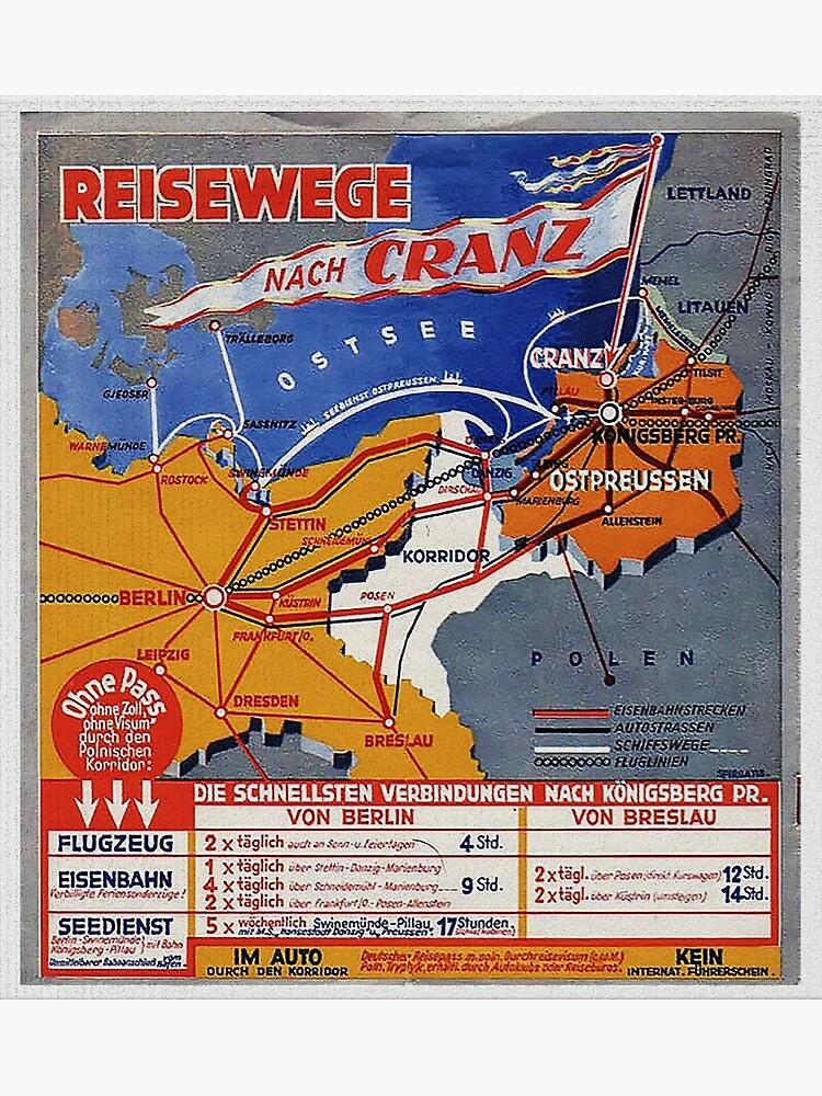 Ostpreussen...Reisewege Nach Cranz an die Ostsee by edsimoneit