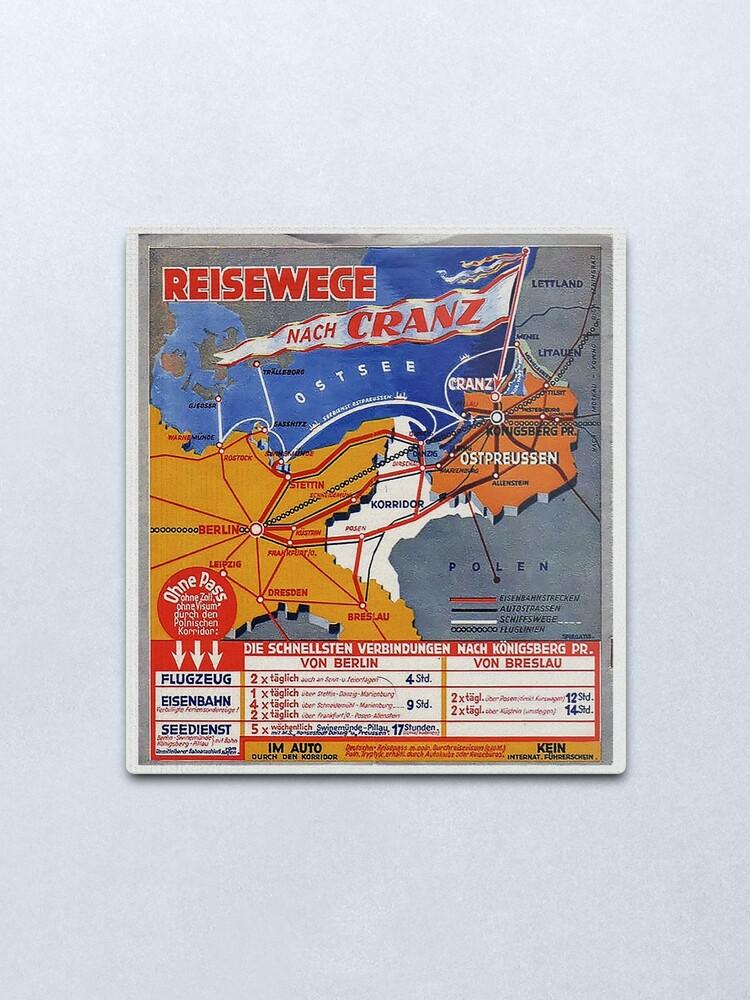 Alternate view of Ostpreussen...Reisewege Nach Cranz an die Ostsee Metal Print