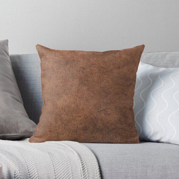 Scratched cork texture surface Throw Pillow