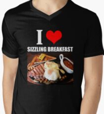 I Love Sizzling Breakfast Men's V-Neck T-Shirt