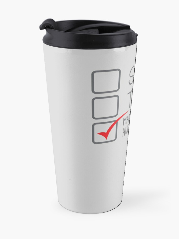 Alternate view of SINGLE TAKEN (Madly in love with Hugh Jackman) Travel Mug
