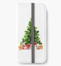 Pine Christmas Tree with Presents iPhone Wallet/Case/Skin
