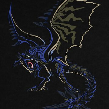 Azure Rathalos - Monster Hunter World by noisywyvern