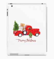 Vintage Red Truck with Christmas Tree and Presents iPad Case/Skin