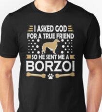 Borzoi Dog Lovers True Friend Unisex T-Shirt