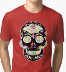 Sugar Skull Design Tri-blend T-Shirt