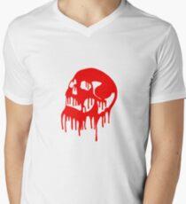 Red Dripping Skull Men's V-Neck T-Shirt