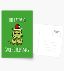 'The Cat Who Stole Christmas' Postcards