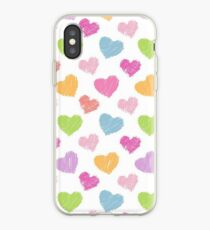 Color Painting Love Heart Valentine iPhone Case