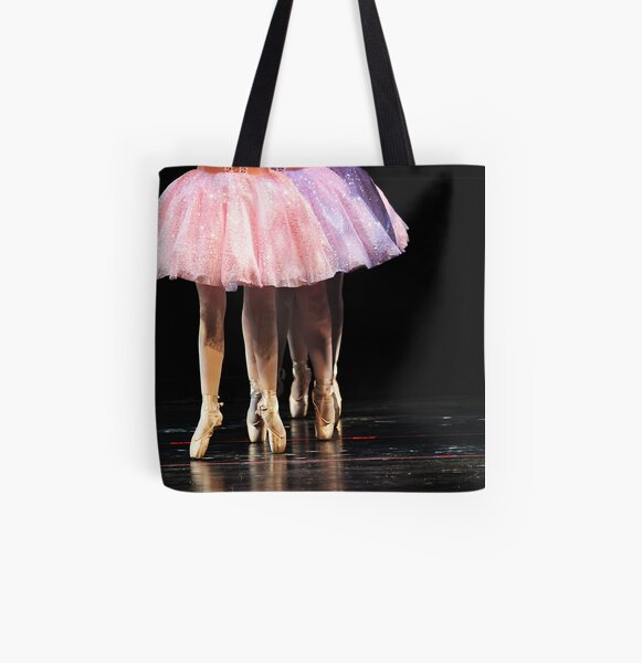 In Line They Dance All Over Print Tote Bag