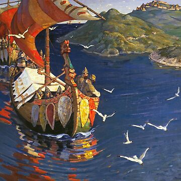 Guests from Overseas by Nicholas Roerich by classicartcache