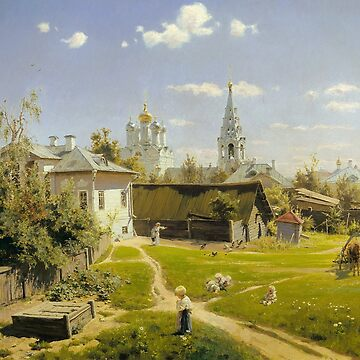 Moscow Courtyard by Vasily Polenov by classicartcache