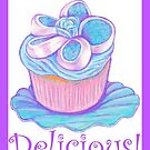 Blue Cupcake ~ Delicious! by Paula Parker