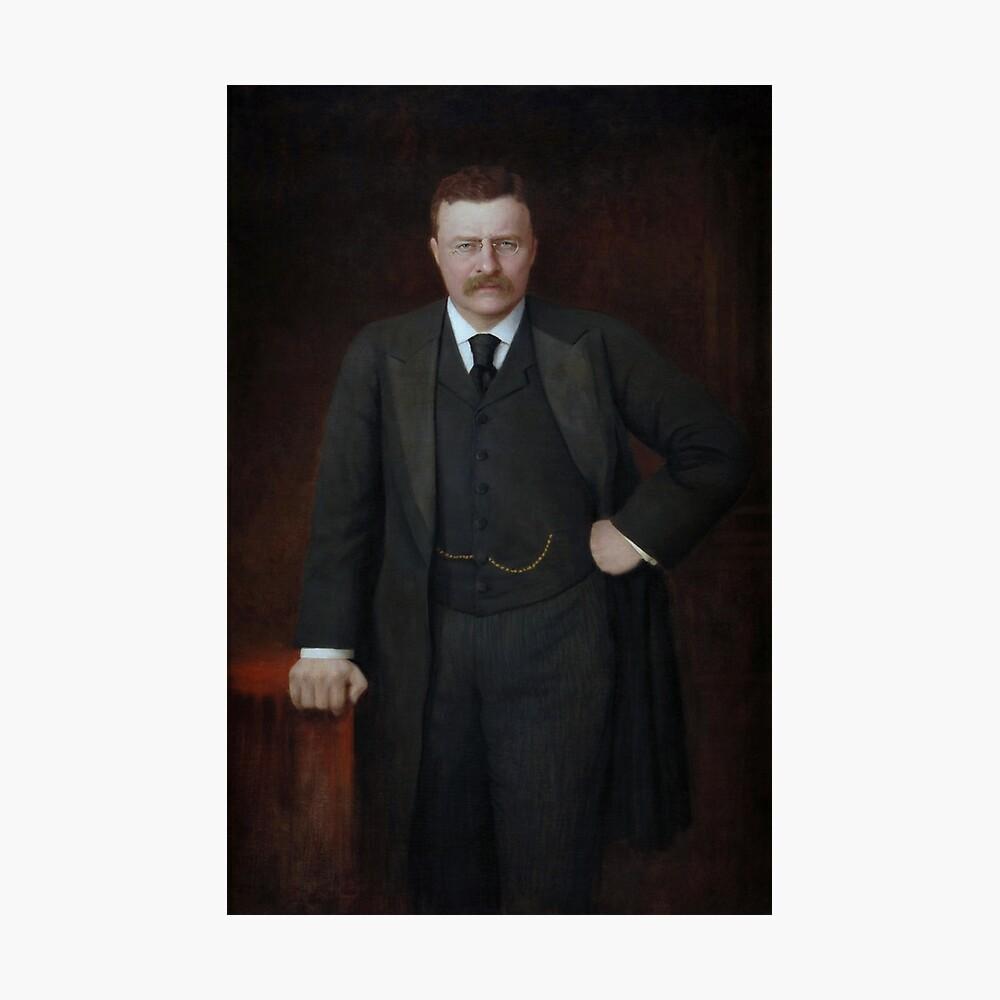Teddy Roosevelt retrato pintado Lámina fotográfica