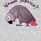 African Grey Parrot Scratch for men women kids by einsteinparrot